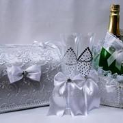 Свадебный набор бордо фото