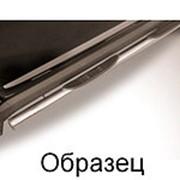 Пороги УАЗ Patriot Pickap 2010-наст. время (с проступями черные 76 мм) фото