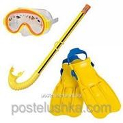 Набор для плавания маска + трубка + ласты Intex 55951 фото