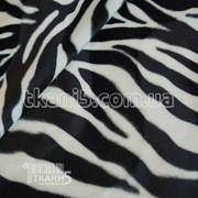 Ткань Мех звери ( зебра ) 2668 фото