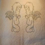 Полотенце для крещения Ангелы фото