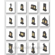 Памятники из мраморной крошки фото