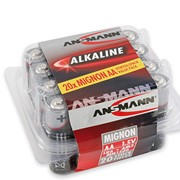 Элементы питания (батарейки) ANSMANN Red Alkaline 1.5 V AA 20шт. фото