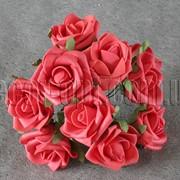 Букет красных латексных розочек 10 шт/5см 4280 фото