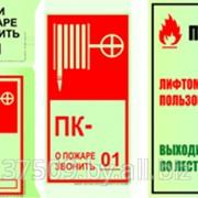 Фотолюминесцентные таблички пожарной безопасности фото