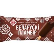Мороженое Беларускi пламбiр шоколадный в шоколадной глазури эскимо, 80г фото