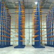 Консольные стеллажи для длинномерных грузов фото
