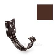 Крюк желоба пластиковый Galeco 152/100 коричневый фото