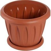 Горшок для растений ФЕЛИЦИЯ 0,9л диам 14см с поддоном /54 (цветной С102К) фото