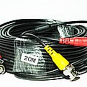 Кабель для системы видеонаблюдения BNC+DC 20 м фото