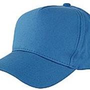 Бейсболка 5 панельные синие фото
