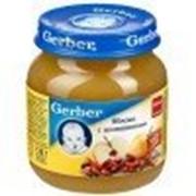 Пюре Gerber Яблоко, шиповник, с 5 мес 130 гр фото