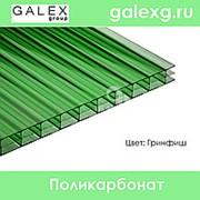 Сотовый поликарбонат POLYGAL (Полигаль) толщ. 3,5мм гринфиш фото
