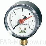 "Манометр 1/4"", торцевое соединение, 0-4 бар, 20-80°C, D=63мм, артикул FA 2500 04 фото"