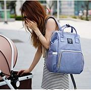 Сумка-рюкзак для мамы с USB/ Голубой фото