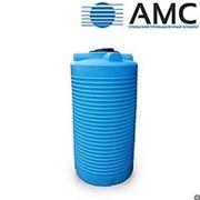 Бак пластиковый 750 литров вертикальный цилиндрический с крышкой фото