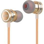 Наушники вкладыши с микрофоном Hoco M16 Ling Sound Metal Gold, мобильная гарнитура, золотистые фото