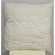 Подушка спальная однотонная 68*68 см хлопок (сатин) фото