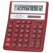 Калькулятор CITIZEN SDC-888X красный фото