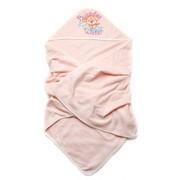 Детское полотенце махровое для купания (персик) фото