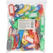 Брелки для ключей разноцветные 50шт. фото