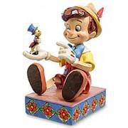 """Фигурка """"Пиноккио и сверчок (Свисти - не грусти!)"""" 13х17,5х14см. арт.4043647 Disney фото"""