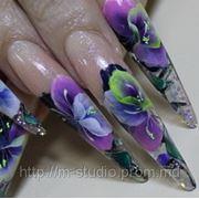 Роспись ногтей фото