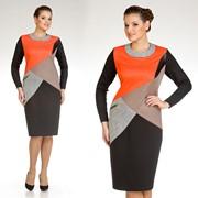 Платье женское трикотажное. Модель: 1185 фото
