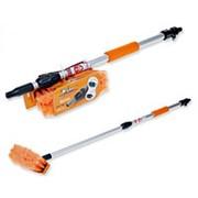Швабра с насадкой для шланга, щеткой 20 см и телескопической ручкой 100 см AB-H-04 фото