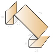 Планка угла внутреннего сложного ПУВС-75х3000 фото