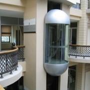 Панорамный лифт с малым машинным помещением фото