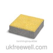 Элемент мощения Квадрат большой - все цвета на белом цементе 6см 3900046 фото