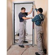 Установка двереи фото