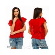 Блуза с рюшами 4895 фото