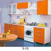 Кухонный гарнитур оранжево-белый фото