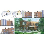 Индивидуальное проектирование и строительство коттеджей, загородных домов фото