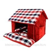 Лежак - домик для животных Beaufort House, красный PUPPIA фото