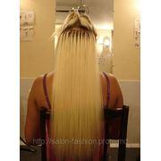 Наращивание натуральных словянских волос фото