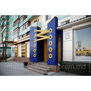 Оформление дибондом зданий фото