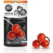 Ароматизатор подвесной Баскетбол черный лед AFBB130 фото