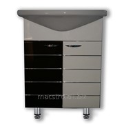 Шкафчик бело-шоколадный домино 65cm новая грань 6842 Артикул 44.156 фото