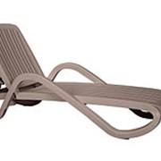 Лежак Eden серый (170-194,5х71х85 см) фото