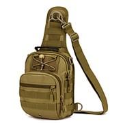 Тактическая военная сумка рюкзак OXFORD 600D Pixel X201 BROWN 281124 фото