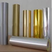 Обрезки металлизированные пленки (золото, серебро) фото