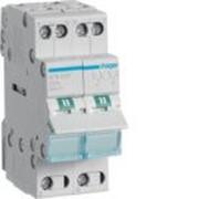 Переключатель I-0-II с общим выходом сверху, 2-пол., 32А/230В, 2м фото