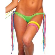 Трусики с яркими разноцветными завязками по бокам B-NE1208 фото