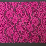 Кружево эластичное, цв.ярко-розовый, шир. 21,1 см фото