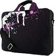 """Сумка для ноутбука 16.4"""" G-Cube GNPS-715V2, черный/фиолетовый, коллекция """"Paint Splash"""" фото"""