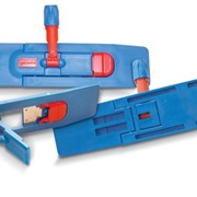 Швабра для сухой уборки 40см Plastic Flat Dustmop Holder 40 cm Blue фото