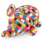 GEKOKO Подушка декоративная Клетчатый слон (A015) фото